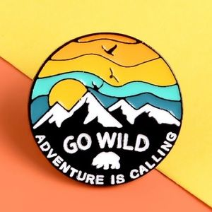 4/$20 Go Wild Adventure Is Calling Bear Enamel Pin